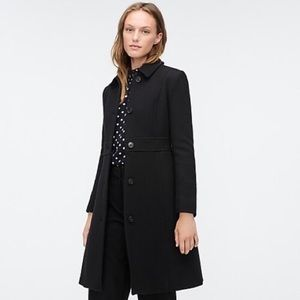 J. Crew Black Lady Day Coat Italian Wool